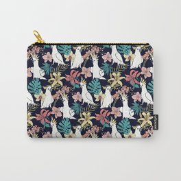 Cockatoo & Tropical Flora Carry-All Pouch