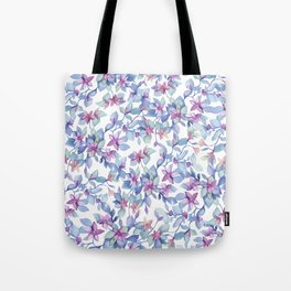 Colorful Watercolor Leaf Pattern Tote Bag
