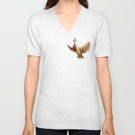 Ancient Yellow Bird Unisex V-Neck