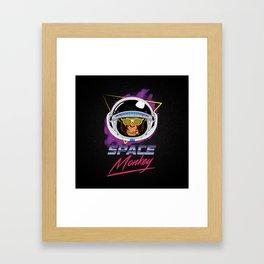 Space Monkey 1980s Framed Art Print