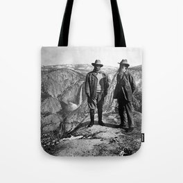 Teddy Roosevelt and John Muir - Glacier Point Yosemite Valley - 1903 Tote Bag