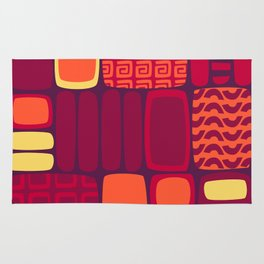 Quilted Flame Rug
