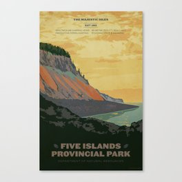 Five Islands Provincial Park Poster Canvas Print