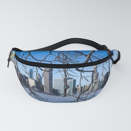 Chicago Skyline Through Nature's Hands Fanny Pack
