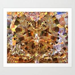 Broken Shapes Art Print