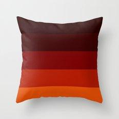 Orange Ombre Stripes Throw Pillow