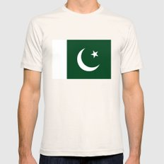 The National Flag of Pakistan - Authentic Version Mens Fitted Tee MEDIUM Natural