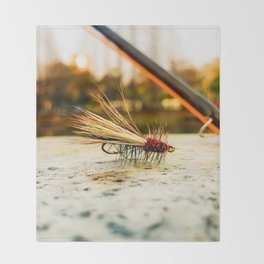 Caddis Fly Throw Blanket
