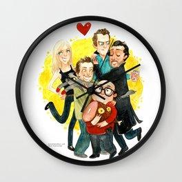 Always Sunny Hug! Wall Clock