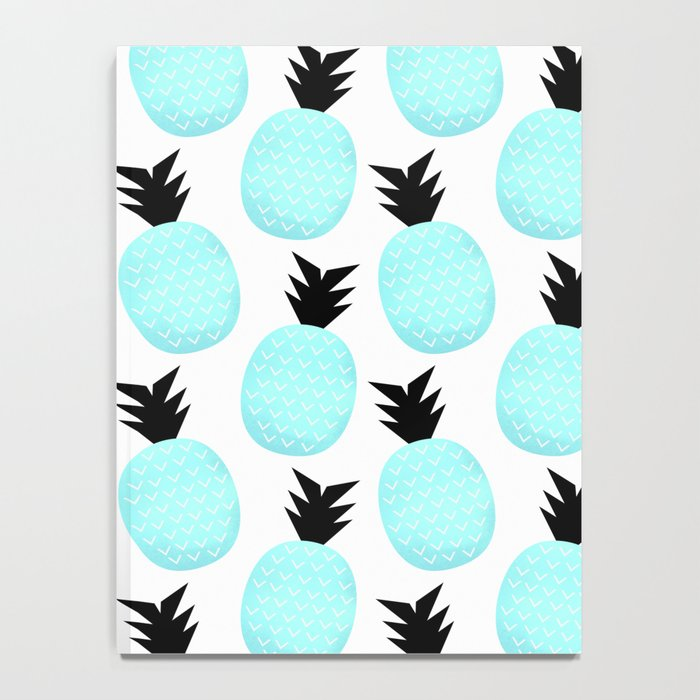 Turquoise Pineapples Notebook