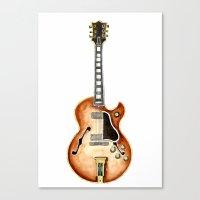 guitar Canvas Prints featuring Guitar by Bridget Davidson