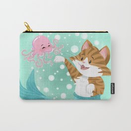 Bubbly Purrmaid Carry-All Pouch