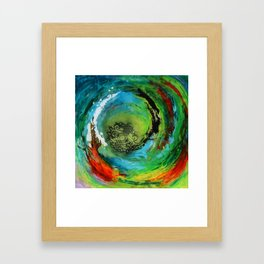 Maelstrom, captivating abstract painting Framed Art Print