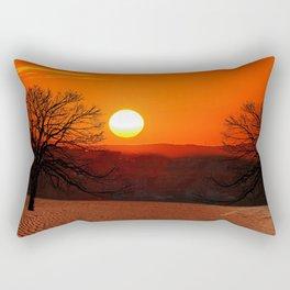 Desert Sunset Landscape Rectangular Pillow