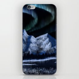 Bob Ross Alaskan Northern Lights iPhone Skin