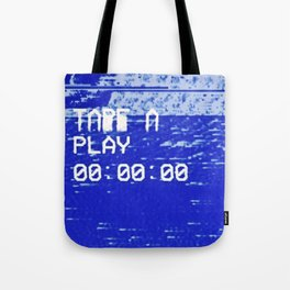 VHS double tape deck bad tracking Tote Bag