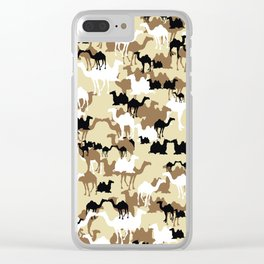 CAMELFLAGE - Desert Storm Sand Clear iPhone Case