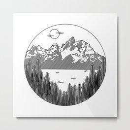 Minimalist Wilderness Metal Print