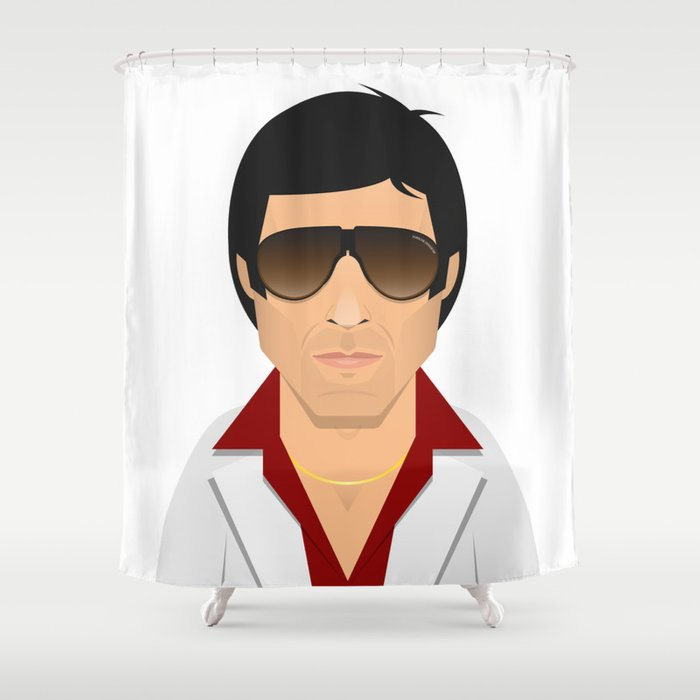 Tony Montana Shower Curtain