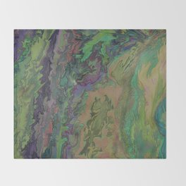 Upwards trip ( Abstract Painting nr. 1 ) Throw Blanket
