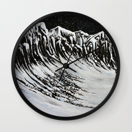 Starlit Cliffs Wall Clock