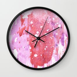 Rose Rain Wall Clock