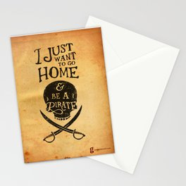 I Just Want to be a Pirate Stationery Cards