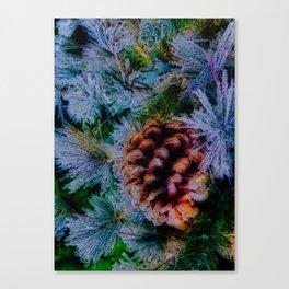 Vibrant Evergreen Christmas Canvas Print