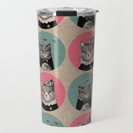 Cats Print Travel Mug
