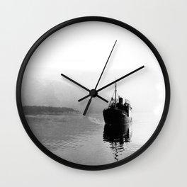 Fjord ship Wall Clock