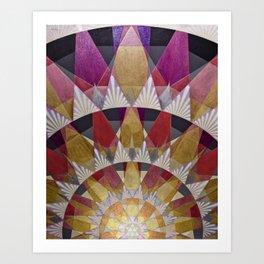 Triangle Explosion Art Print