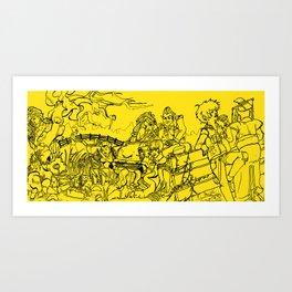 CREEPS ASSEMBLE! Art Print