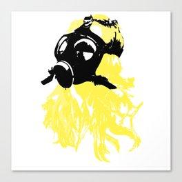 Blonde Gasmask Canvas Print