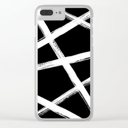 Brush Strokes V2 Clear iPhone Case
