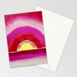 Ocean Sunrise - Red Skies Portrait Painting by Georgia O'Keeffe Stationery Cards
