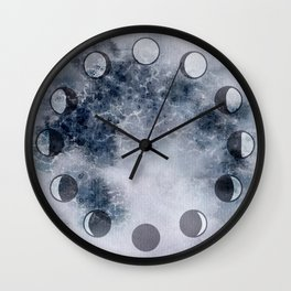 Lunar Phase Clock Wall Clock