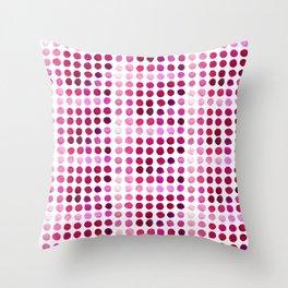 Pink Pink Polka Pink Throw Pillow