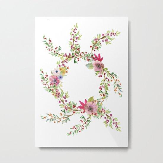 Natural Circle Metal Print