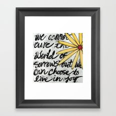 Live in Joy Framed Art Print