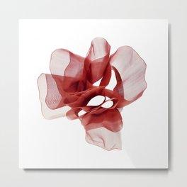 Red tape flower 3 Metal Print