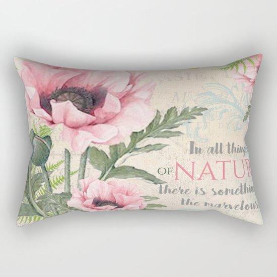 Vintage Flowers #24 Rectangular Pillow