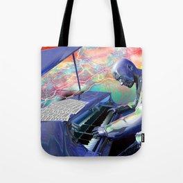 Blue Piano Tote Bag