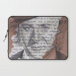 Willy Wonka Portrait with Pure Imagination Lyrics Laptop Sleeve