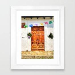 Door, Holy Week - Chiapas, Mexico Framed Art Print
