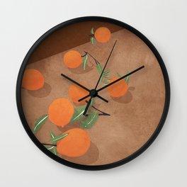 Oranges Wall Clock