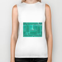 architecture Biker Tanks featuring ARCHITECTURE by BIGEHIBI
