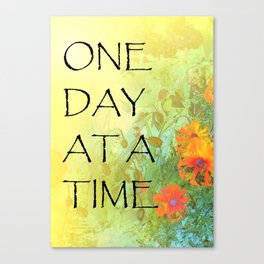 One Day at a Time (ODAT) Lilacs & Poppies Canvas Print