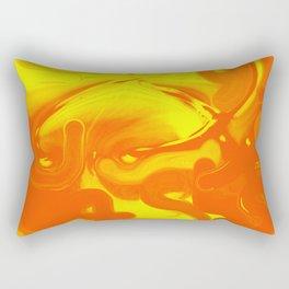 Orange Inside Yellow Rectangular Pillow
