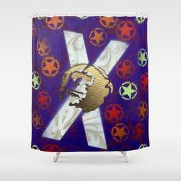 Monky Cross Bones Shower Curtain