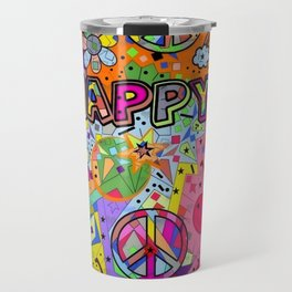 Happy Popart by Nico Bielow Travel Mug
